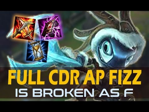 Full Cdr Ap Fizz Mid Is Actually BROKEN - patch 7.10 ( One Shot Everyone !! )