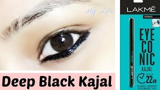 Lakme Eyeconic Kajal Review | Long Lasting | Deep Black | My Life ||
