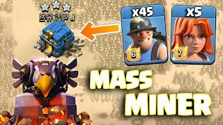 Mass Miners With 5 Max Valkyrie Epic TH12 Attack 2018 | Clash Of Clans