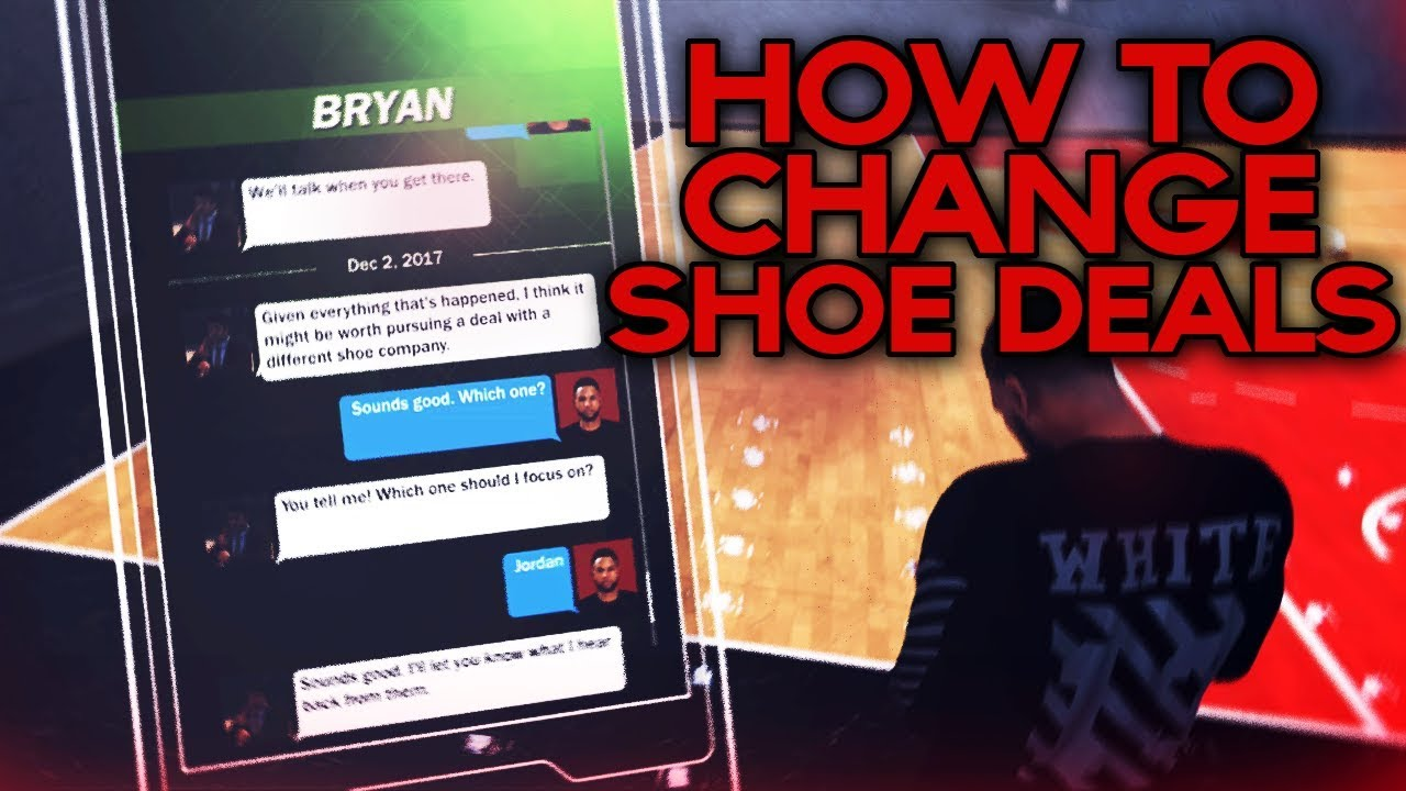How To Change Shoe Deals Without Making New Player - NBA 2K18 MyCareer Tip