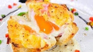 แซนวิชไข่เบคอนสไตล์ฝรั่งเศส French Bacon And Egg Sandwich