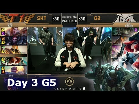 SK Telecom T1 vs G2 eSports | LoL MSI 2019 Group Stage Day 3 | SKT vs G2