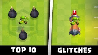 Top 10 Glitches in Clash Royale's New Touchdown Update | Funny Glitches