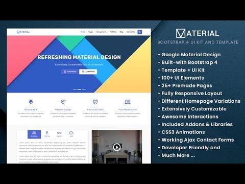 Free Material Design Bootstrap 4 UI Kit