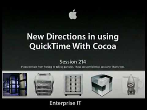 WWDC 2004 Session 214 - Programming QuickTime with Cocoa