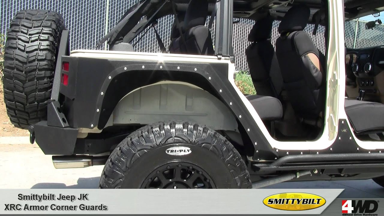 Jeep Wrangler Rear Corner Guards