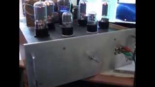 видео Простой ламповый усилитель Ю. Большова на 6Ф1П, 6П14П (10Вт)