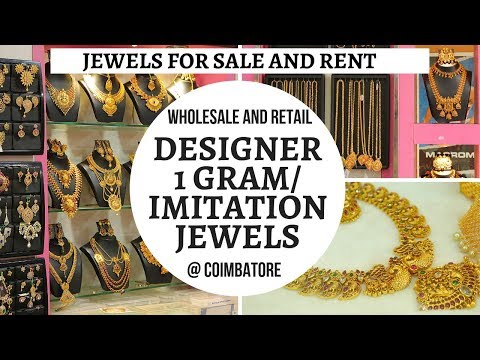 Wholesale and Retail Imitation Jewellery Shopping in Coimbatore|| Bridal and Rental ||