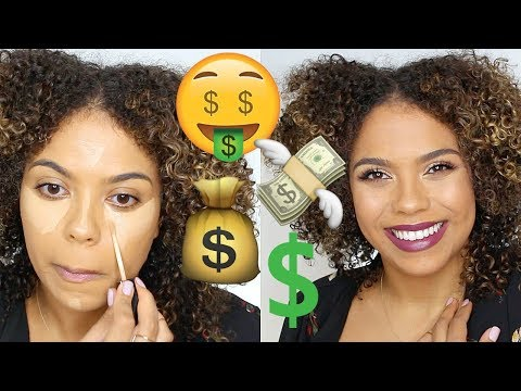 Full Face Drugstore Makeup + Outfit! | $100 Challenge