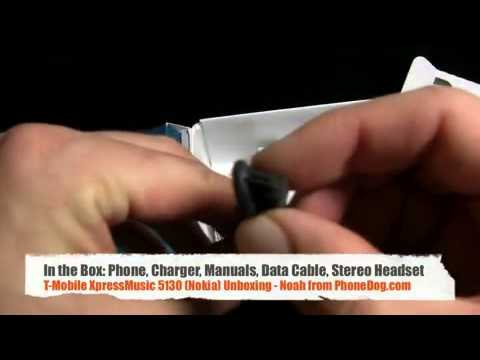 T Mobile 5130 XpressMusic Nokia   Unboxing