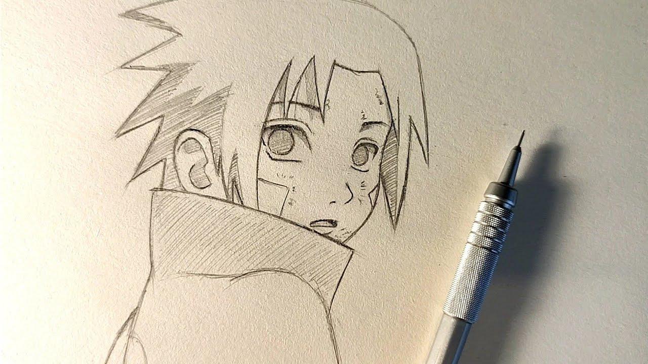 Sasuke Uchiha Çizimi - Anime Nasıl Çizilir / Naruto