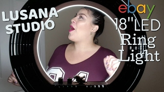 "Lusana Studio 18"" LED Ring Light Unboxing & Review"