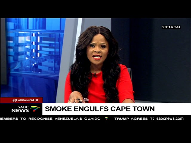 Fire engulfs Cape Town