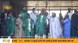 Massive Crowd As Buhari Tinubu Osinbajo Lands Osun For APC Campaign Rally