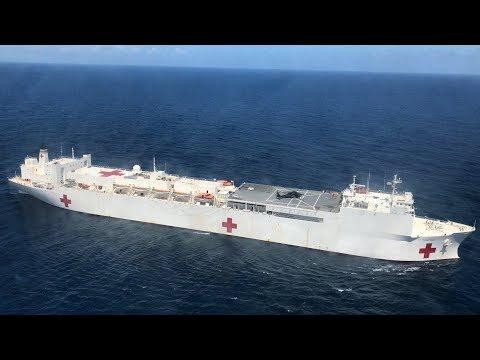 Floating hospital sits empty near Puerto Rico - Dauer: 2 Minuten, 40 Sekunden