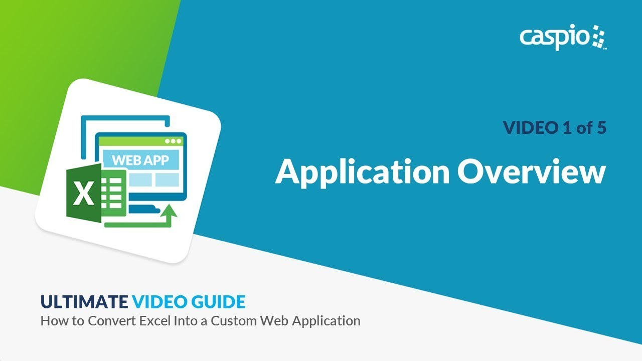 how to convert excel into a custom web application part 1 of 5