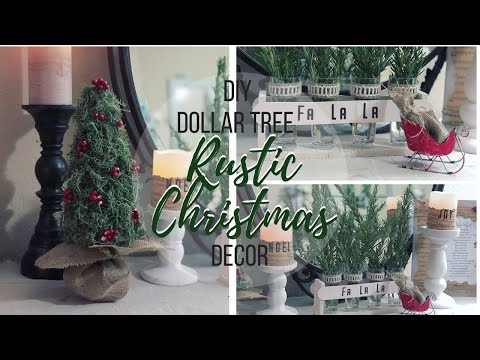 DIY DOLLAR TREE RUSTIC CHRISTMAS DECOR