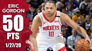 Eric Gordon erupts for career-high 50 points for Rockets vs. Jazz | 2019-20 NBA Highlights