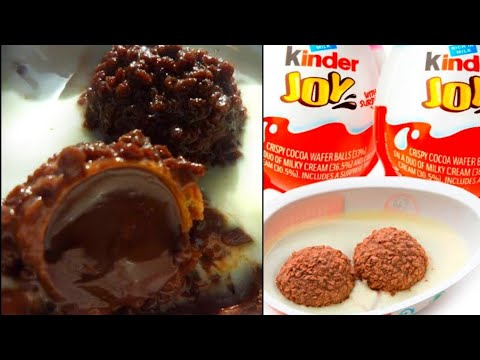 KINDER JOY recipe / How to make kinder joy at home / kinder joy recipe with English caption