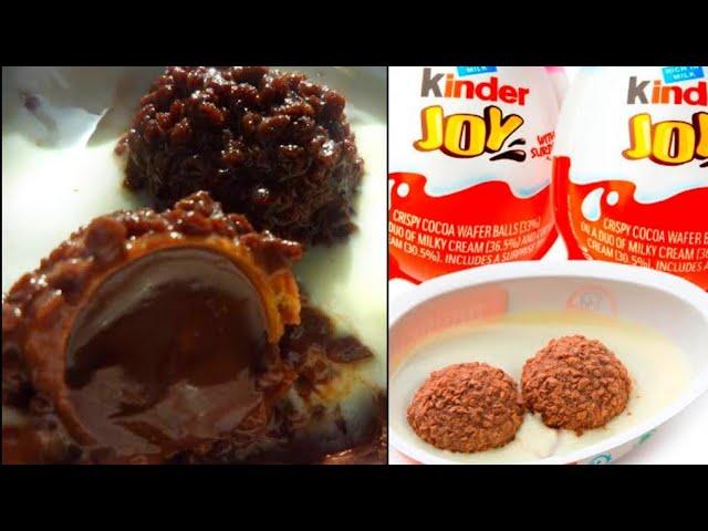 Kinder Joy Recipe How To Make Kinder Joy At Home Kinder Joy Recipe With English Caption Youtube