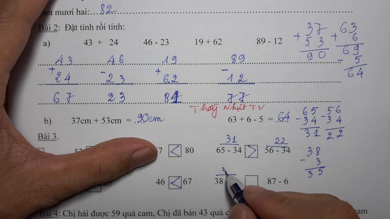 TOÁN LỚP 1 – Đề thi học kỳ 2 – Cuối năm (Đề 2) – Tổng hợp đề thi – Thầy Thạc Sĩ Nhựt