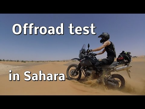 Crazy offroad test in desert Sahara on Yamaha dual sport motorcycles