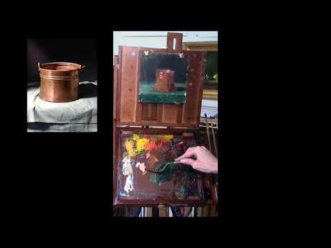 How To Paint a Copper Pot - Oi painting Demonstration