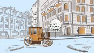 Красивое рисованное видео Прогулка по Парижу