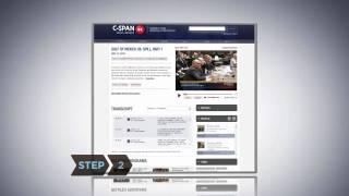 كيفية إنشاء مشاركة & تضمين مقطع فيديو باستخدام C-SPAN مكتبة الفيديو