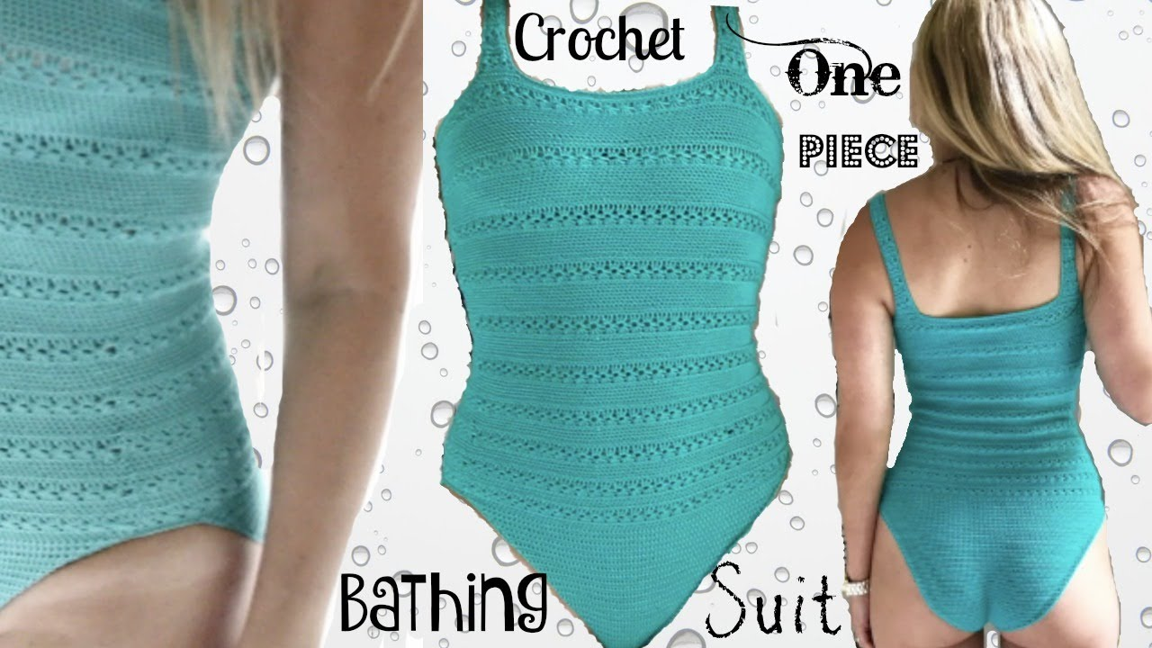 One Piece Crochet Bathing Suit Youtube