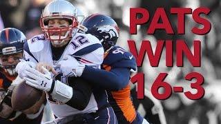 NFL Patriots Beat Broncos 16-3