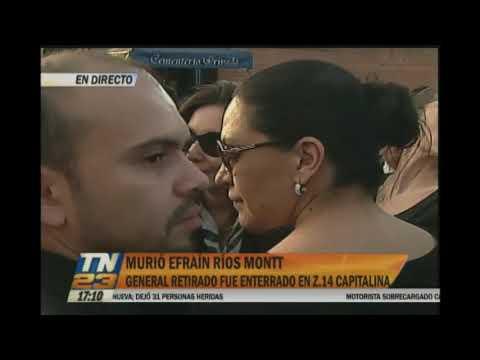 Dan el último adiós al general retirado Efraín Ríos Montt