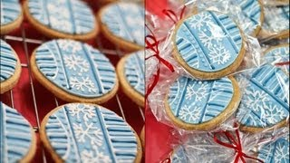How-to: Snowflake Ornament Cookies {holiday Gift Idea}