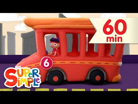 10 Little Buses  + More Kids Songs  Super Simple Songs