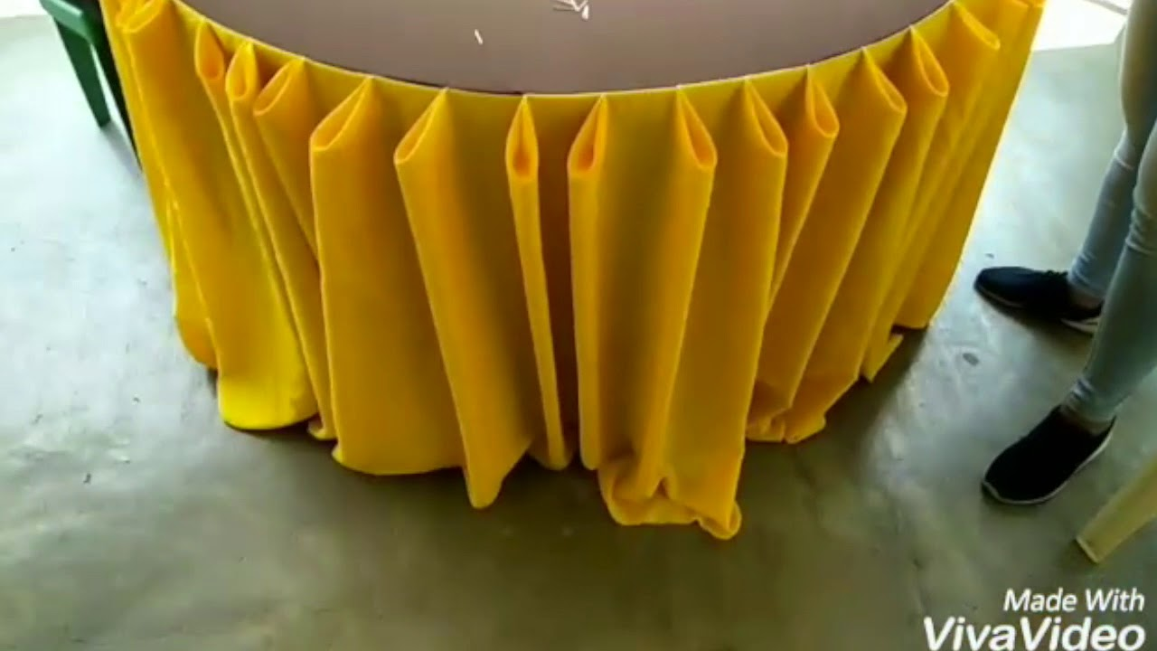 Diamond Table Skirting Tutorial