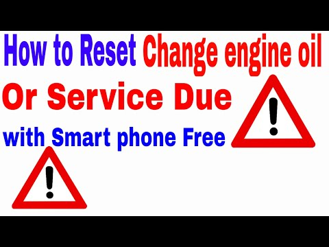 How to reset the change engine oil light  in car with smart phone without computer