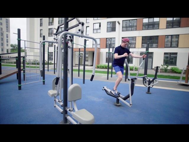 Спортивные площадки - Европейский, Видный и Новин в Тюмени | Брусника