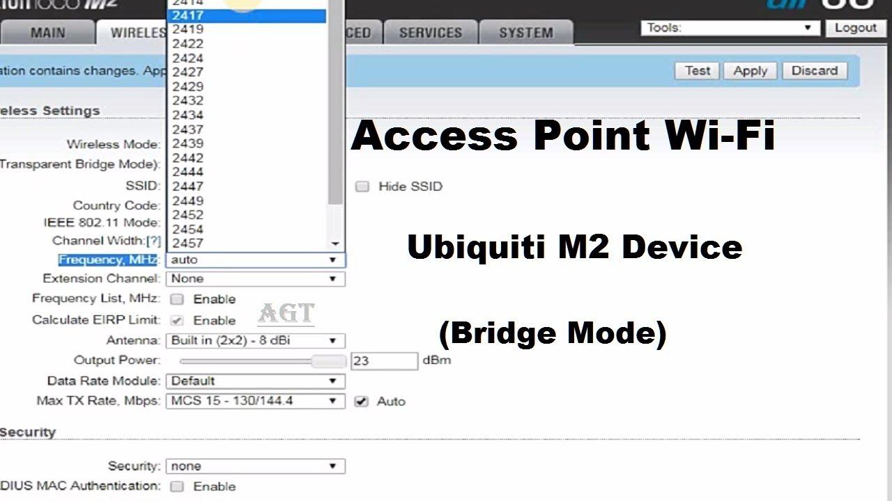 Ubiquiti NanoStation M2 Setup as AP Wifi Easy Step by Step (Bridge Mode)