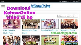 Cara download kshowonline kshow123 ikshow lewat hp Smartphone