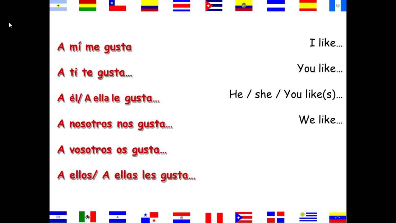PPT - GUSTAR y otros verbos como GUSTAR PowerPoint ... |Gustar Forms