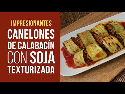 Canelones de Calabacín y Soja Texturizada