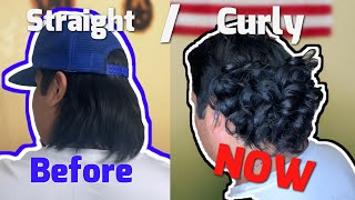 How to get curly MULLET!