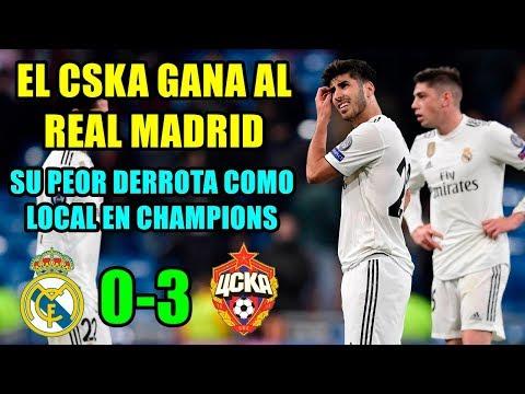 EL REAL MADRID PIERDE ANTE EL CSKA (0-3) | SU PEOR DERROTA EN CHAMPIONS | ISCO PITOS | BALE TOCADO