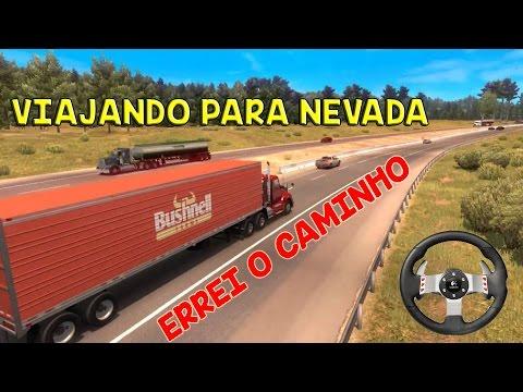 Viajando para Nevada - ATS + G27 + Notebook - American Truck Simulator - #14