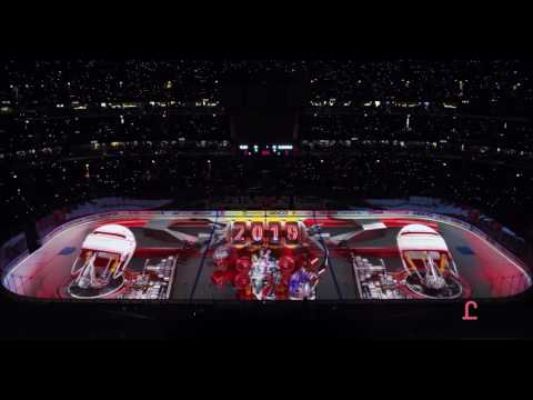 Insane Chicago Blackhawks Projection Show Opener Ice 2016-2017