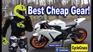 Good CHEAP Motorcycle Gear Recommendations  | MotoVlog