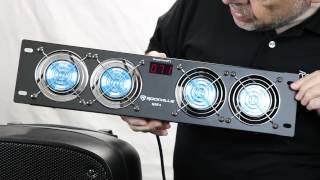 Rockville - RRF4 - 19˝ Rack Mount 4 Fan Cooling System