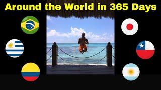Gambar cover Around the World in One Year