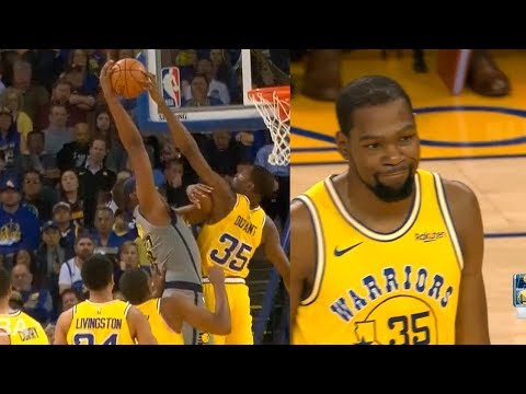 Kevin Durant destroys Myles Turner with craziest block | Warriors vs Pacers