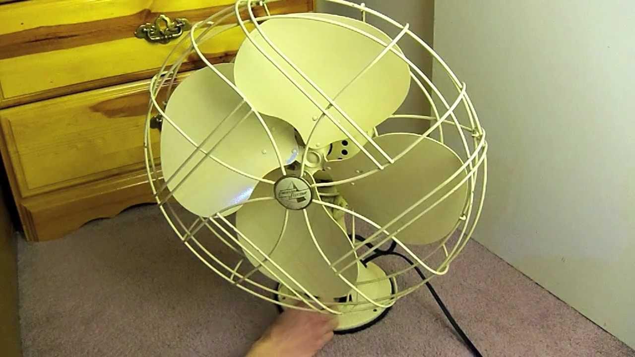 Emerson Desk Fan : Antique emerson electric desk fan ao youtube